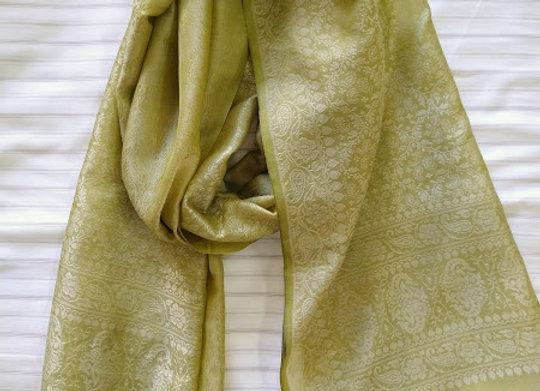 Light Green Faux Silk Stole