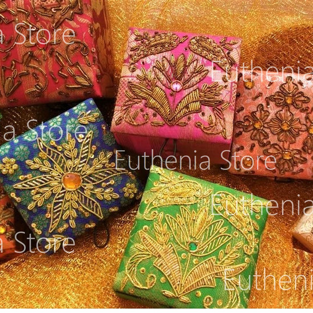 Zardosi brocade boxes