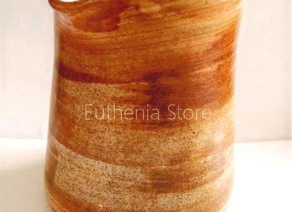 Handmade Ceramic Pottery Milk Jar