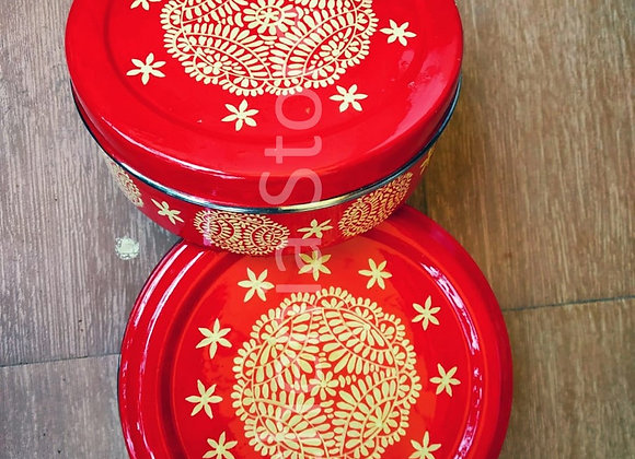Red Enamelware Gift Set