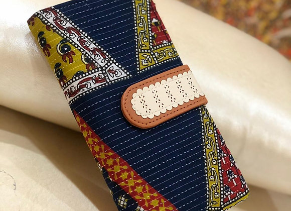 Blue Geometric Designer Wallet