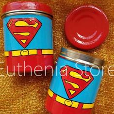 Superman Steel Box Hand painted