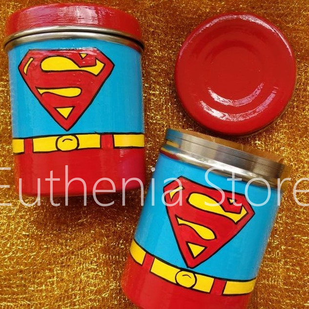 Superman Steel Box Hand painted