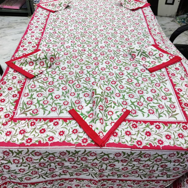 Hand-Block 6 Seater Tablecover