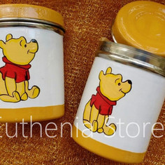 Pooh Design Hand Painted Steel Box