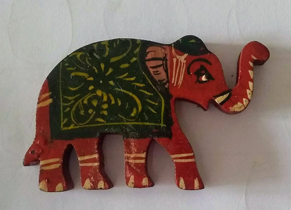 Elephant Wooden Fridge Magnet