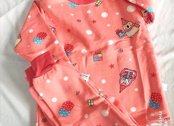 Peach Kids Cotton Nightwear