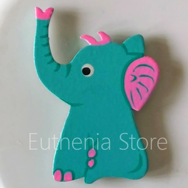 Emerald Baby Elephant Fridge Magnet