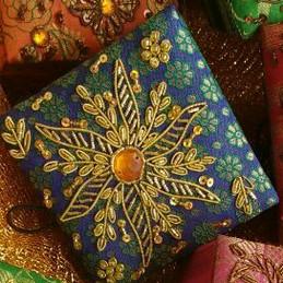 Handcrafted zardosi work gift box