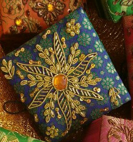 Handcrafted zardosi work gift box