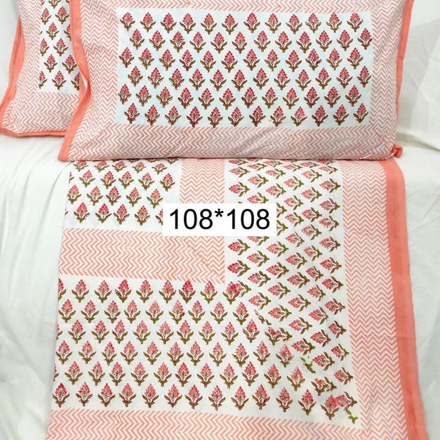 Cotton Hand Block Bedsheet