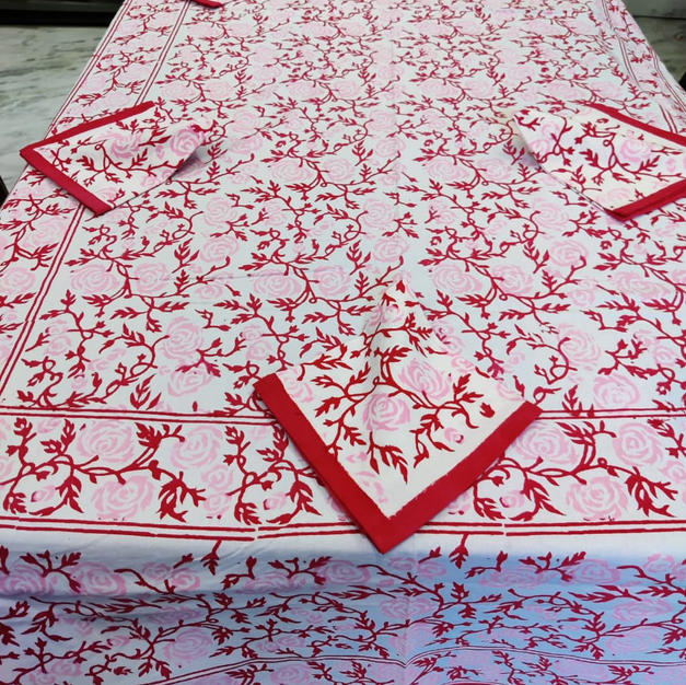 Hand-Block 6 Seater Table Cover