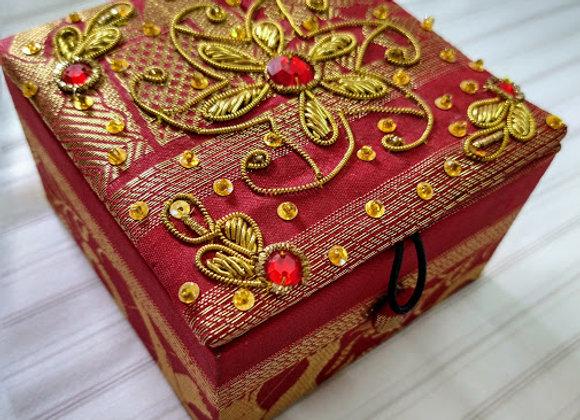 Zardozi Work Red Gift Box