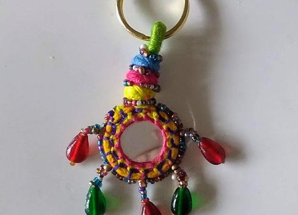 Tribal Mirror Keychain