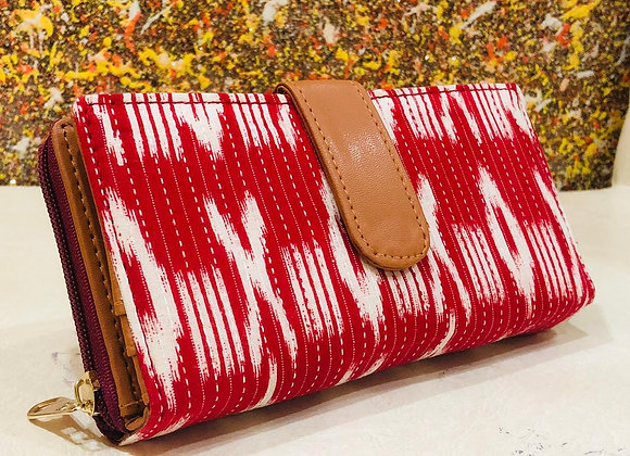 Red Ikat Wallet