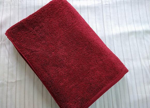 Red Cotton Bath Towel