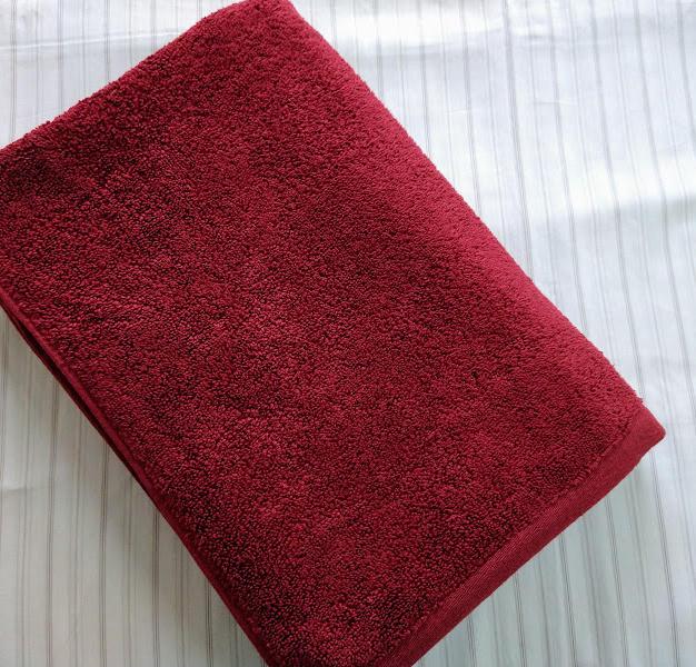 Red Bath Towel