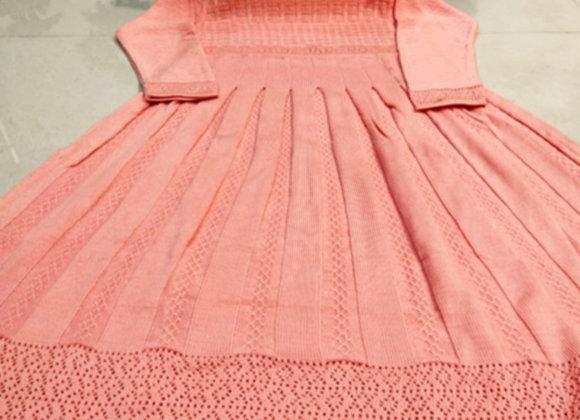 Pink Woolen Long Frock