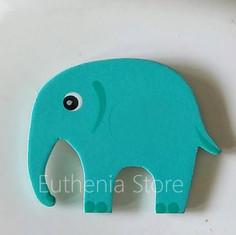 Emerald Wooden Elephant Fridge Magnet