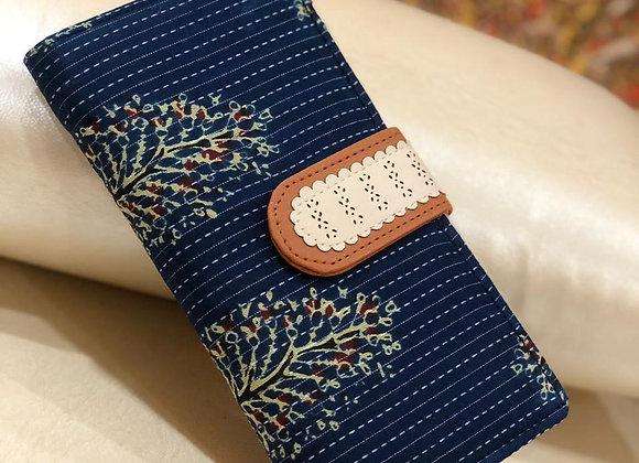 Blue Floral Wallet