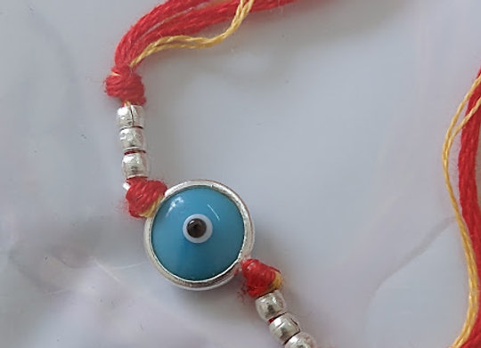 Evil Eye Silver Rakhi