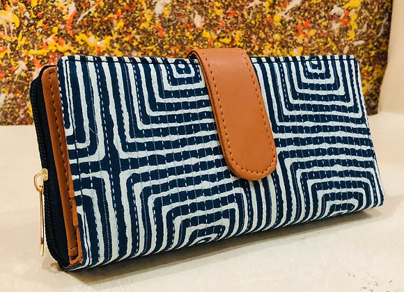 Indigo Fabric Wallet
