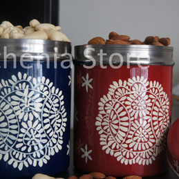 Mandala design handpainted steel gift box