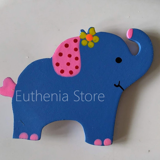 Blue Baby Elephant Fridge Magnet