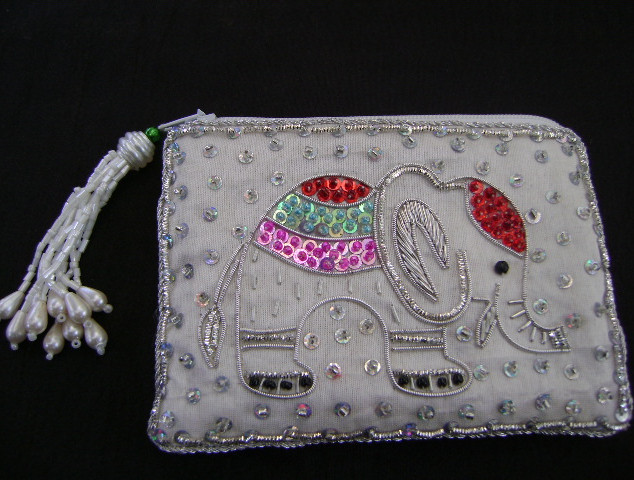 Coin Pouch Elephant Design