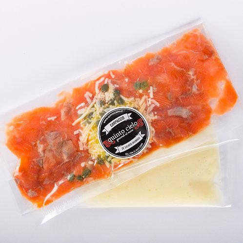 Carpaccio de salmón ahumado