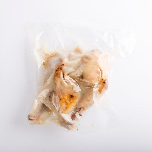 Confit de pollo de pradera