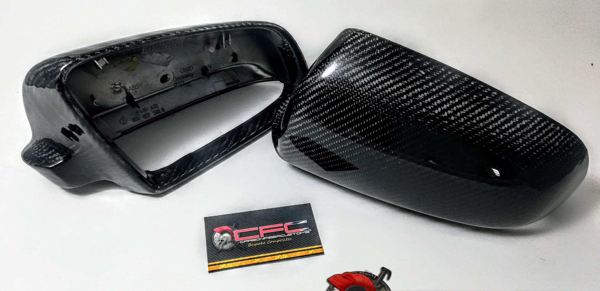 Yamaha Tmax 530 Tachometer Audi S3 Mirrors Carbon Fiber Skinning by CFC