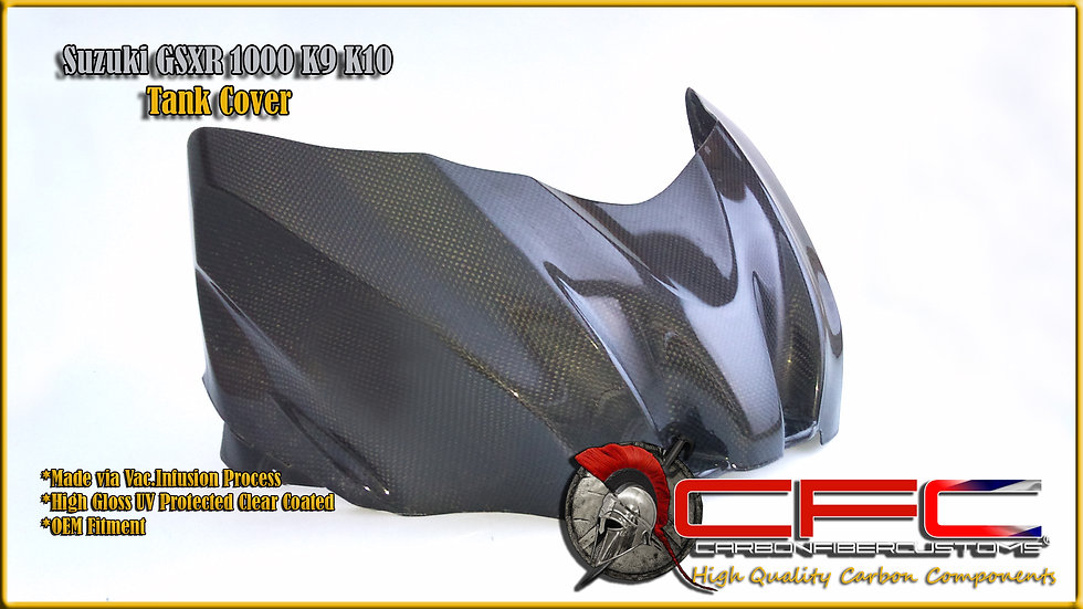 Suzuki GSXR 1000 K9 K10+ Carbon Fiber Tank Cover