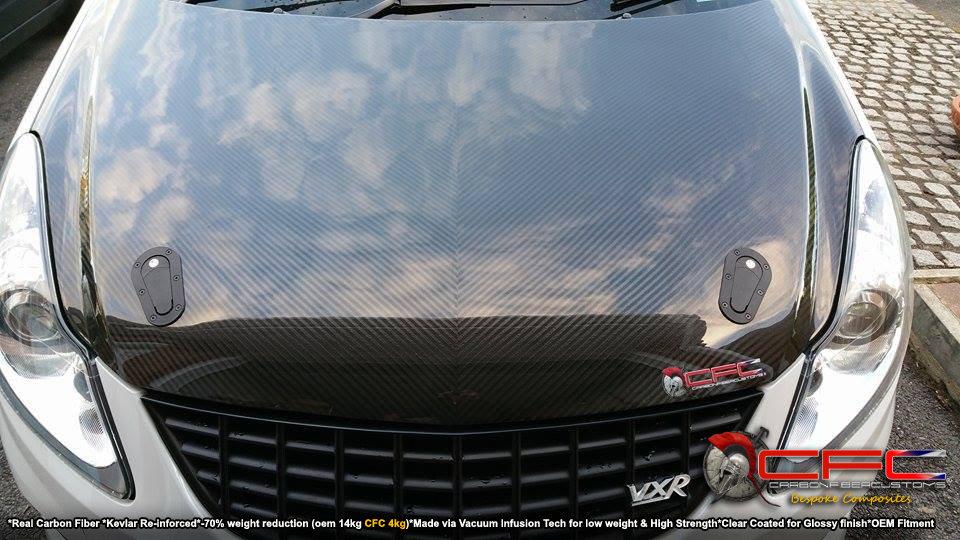 Opel Vauxhall Corsa D Carbon Fiber Hood