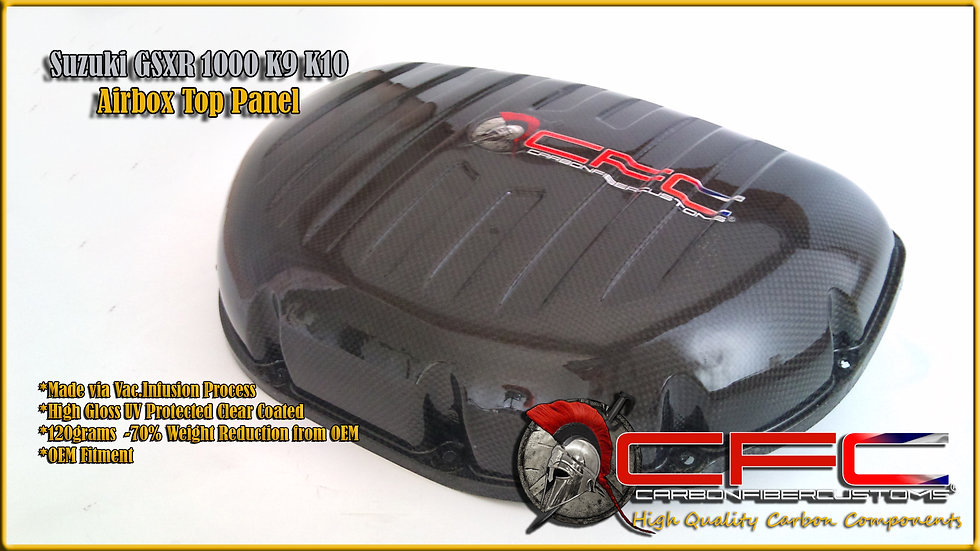 GSXR 1000 K9 K10+ Carbon Fiber Airbox Top Panel