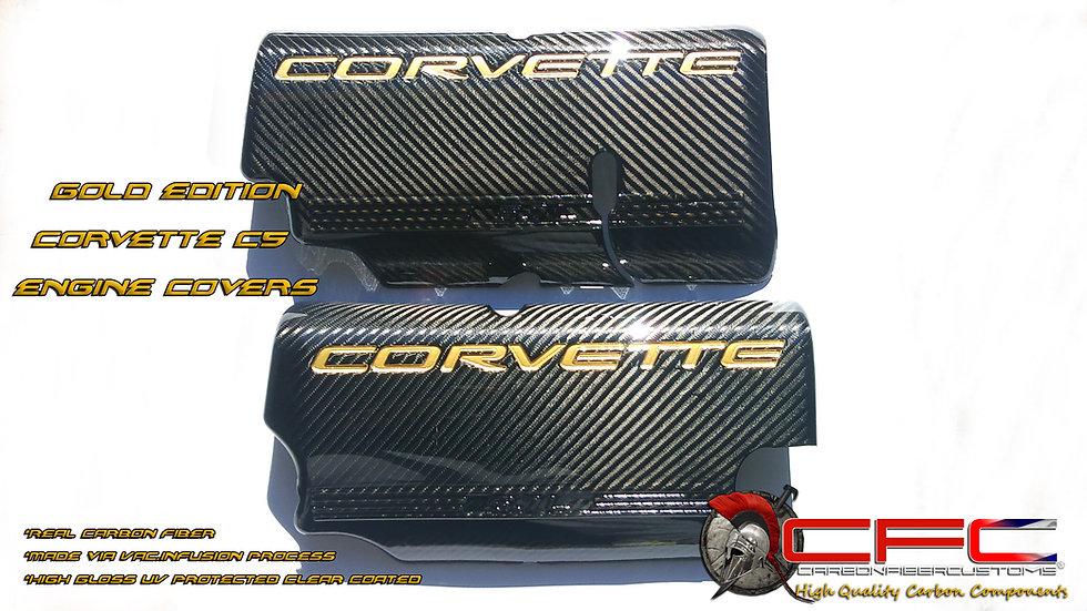 Corvette C5 Carbon Fiber Engine Covers