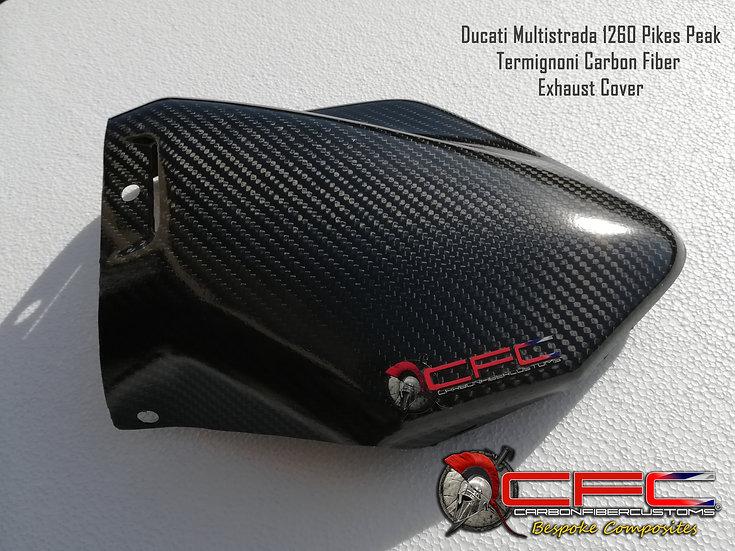 Ducati Multistrada 1260  Carbon Fiber Termignoni exhaust shield