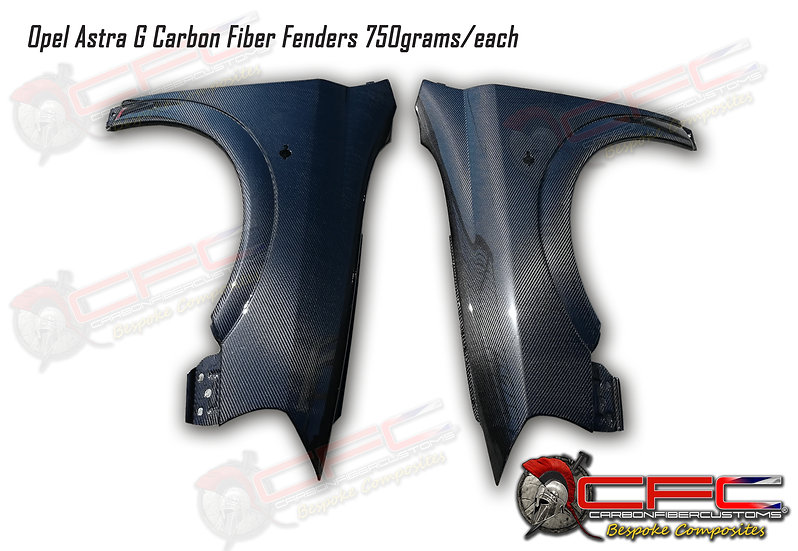 Opel Astra G Carbon Fiber Fenders