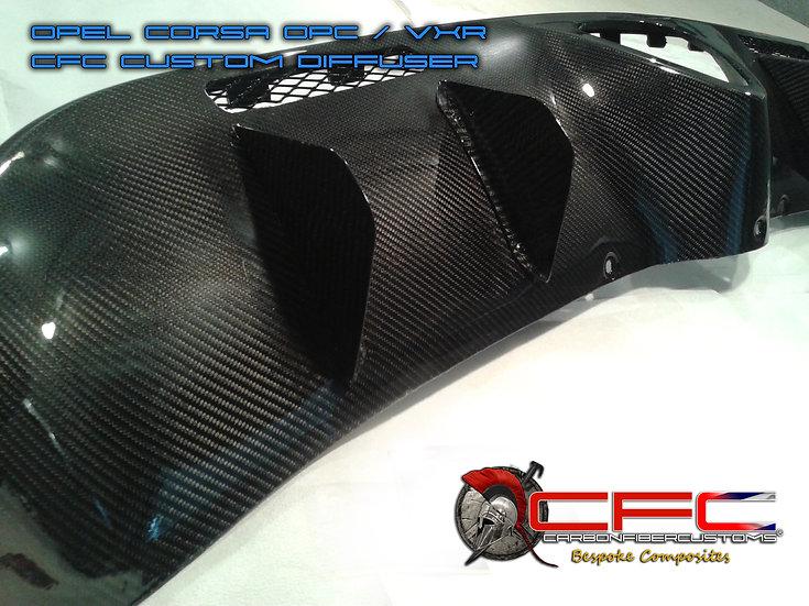 Opel Corsa OPC VXR Custom CFC Diffuser with long fins