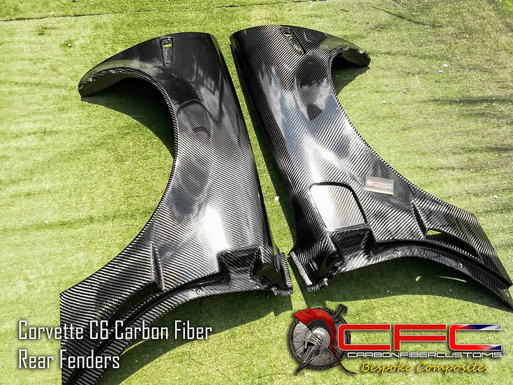 Corvette C6 Carbon Fiber Rear Fenders / Quarter Panels