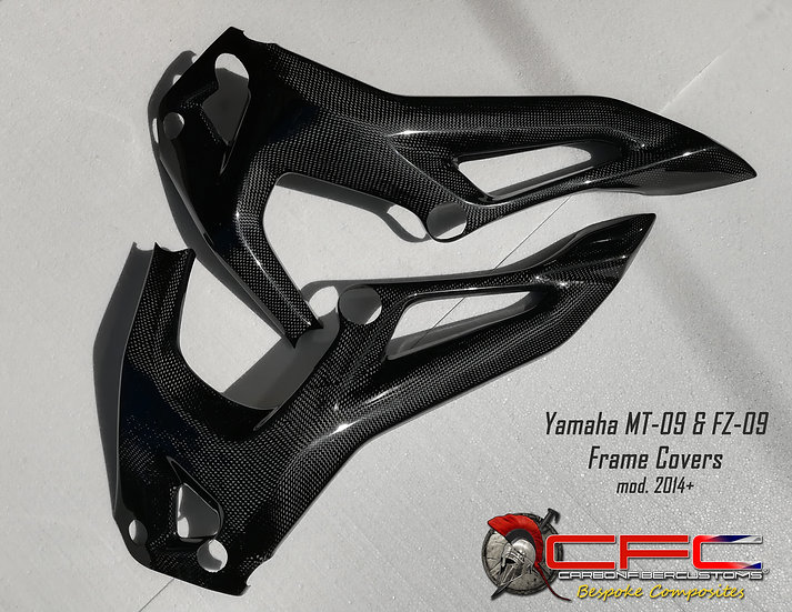 Yamaha MT-09 FZ-09 Carbon Fiber Frame Covers