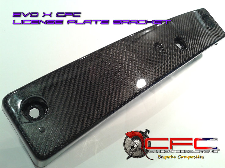 Mitsubishi EVO X Carbon Fiber License Plate Bracket