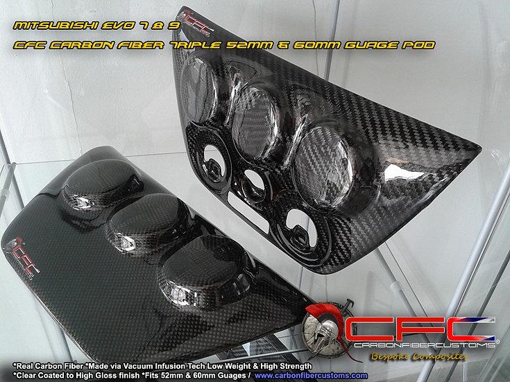 Mitsubishi Evo 7 8 9 LHD Carbon Fiber Console