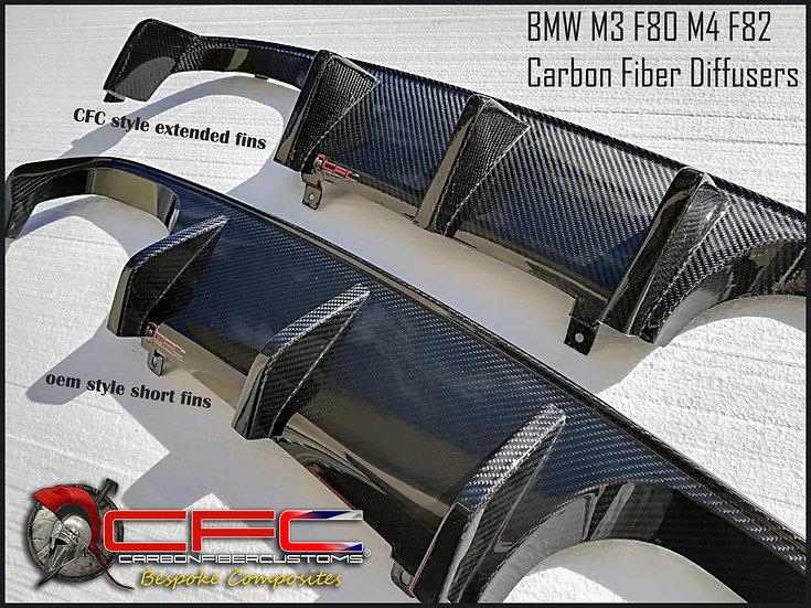 BMW M3 F80 & M4 F82 Carbon Fiber Diffusers