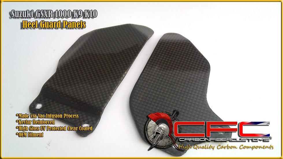 Suzuki GSXR 1000 K9 K10+ Carbon Fiber Heel Plates