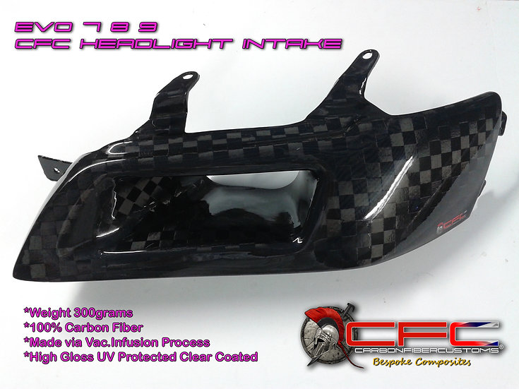 EVO 7 8 9 Carbon Fiber / Fiberglass Headlight Replacement