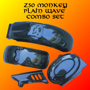 Z50 Monkey Carbon Fiber Front Fender, Rear Fender, Chain Guard & Battery Cover