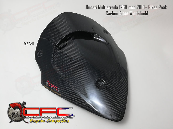 Ducati Multistrada 1200 mod.2010-2017 & 1260 mod.2018+ Carbon Fiber Windshield