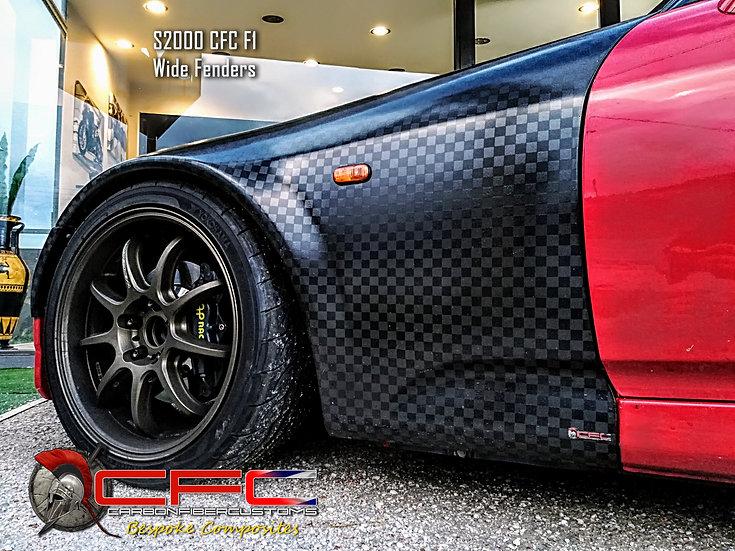 Honda S2000 Wide Front Fenders +2,5cm Fiberglass / Carbon Fiber