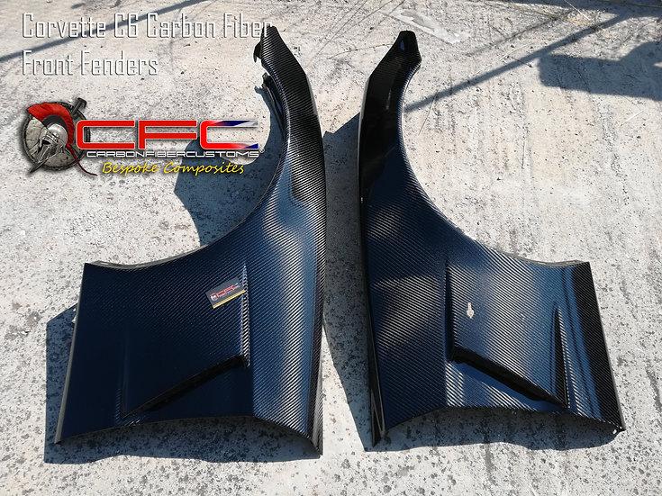 Corvette C6 Carbon Fiber Front Fenders